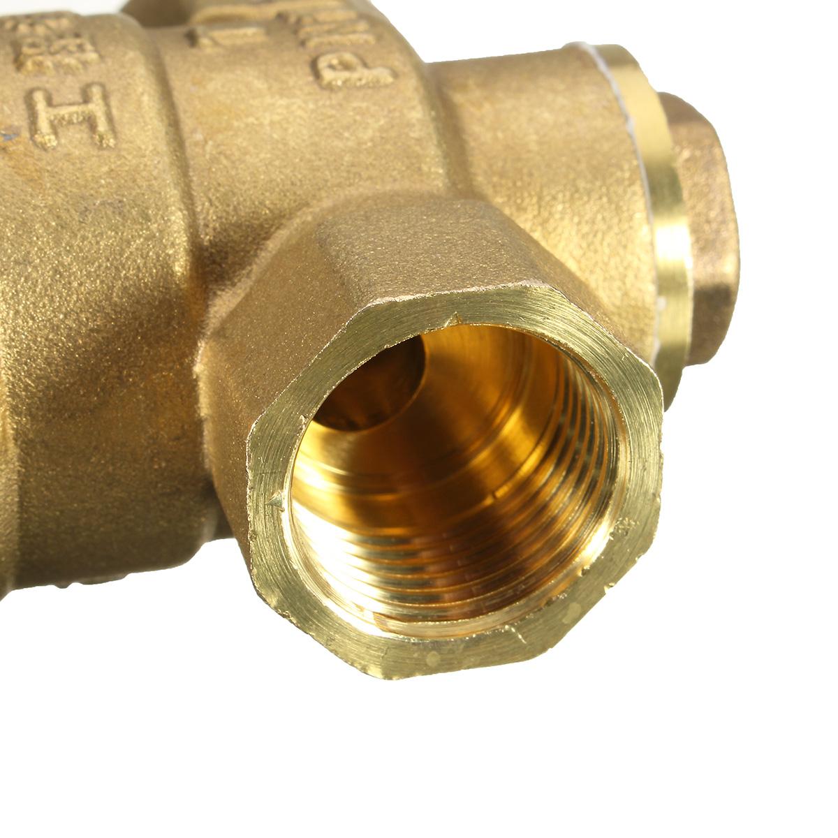 dn20 npt adjustable brass water pressure regulator reducer with gauge met. Black Bedroom Furniture Sets. Home Design Ideas