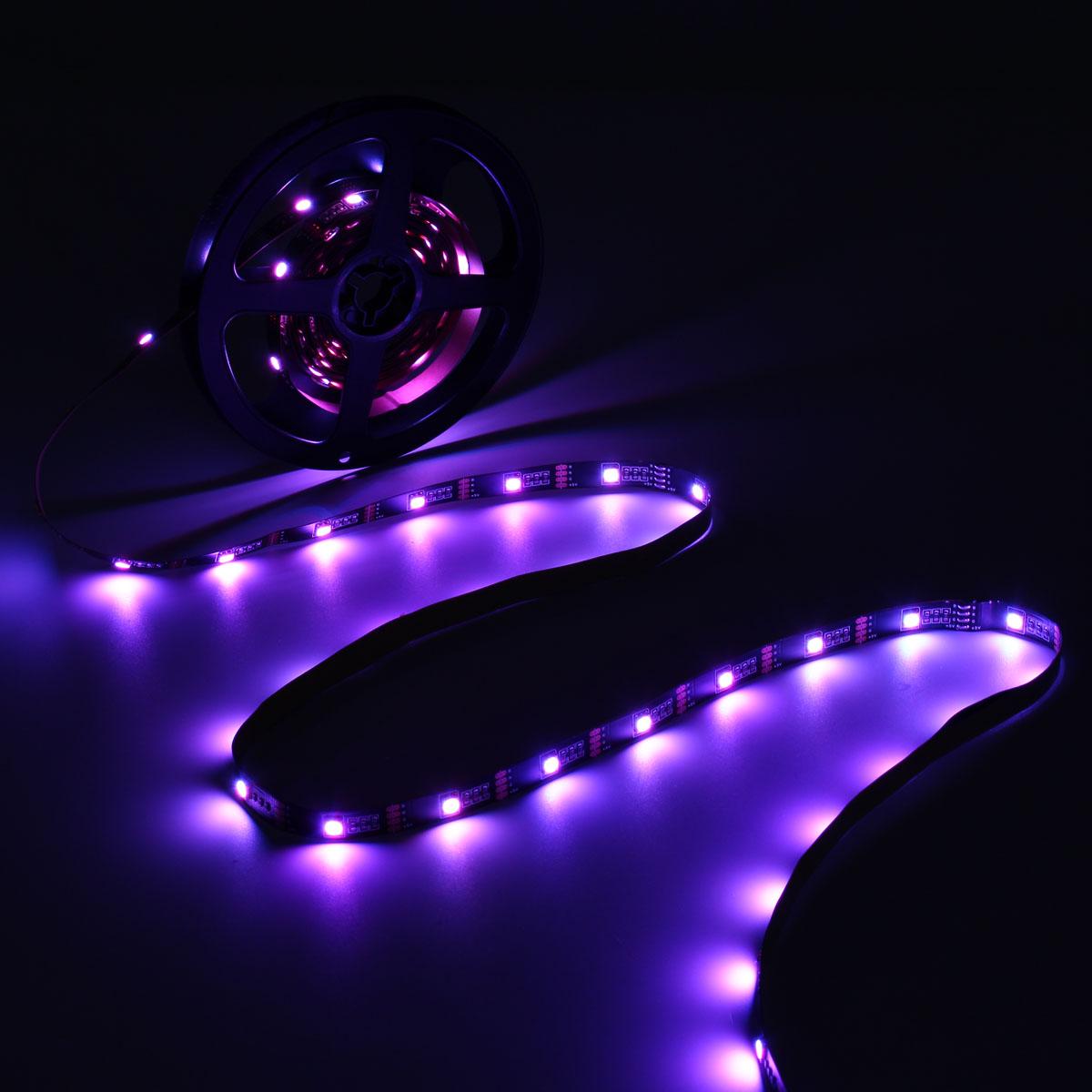 0.5/1/2/3/4/5M Non-Waterproof USB RGB SMD5050 LED Strip Light TV Background Lighting Lamp Kit DC5V
