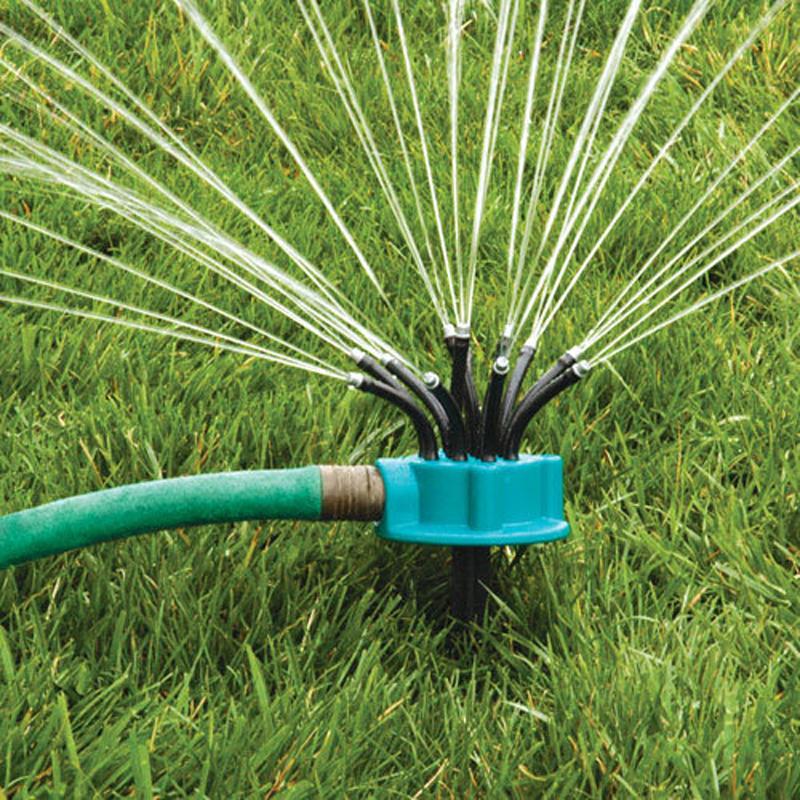 360 176 Sprinkler Garden Irrigation Multi Nozzle Lawn Green