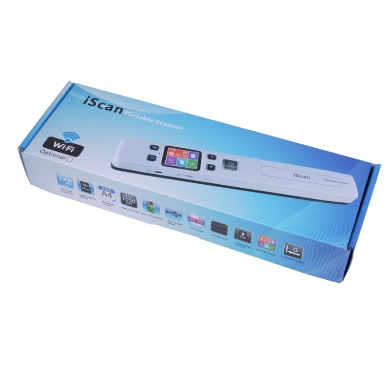 iScan02 Double Roller Mobile Document Portable HandHeld ...