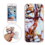 For iPhone 6s Plus & 6 Plus Blue Brown Marble Pattern Soft TPU Protective Case