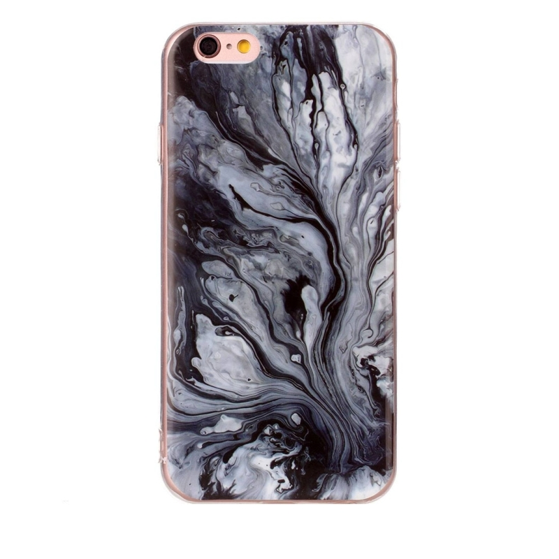 For iPhone 6s Plus & 6 Plus Ink Marble Pattern Soft TPU Protective Case
