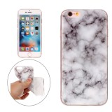 For iPhone 6s Plus & 6 Plus White Marble Pattern Soft TPU Protective Case
