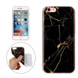 For iPhone 6 & 6s Black Marble Pattern Soft TPU Protective Case