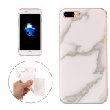 For iPhone 7 Plus Beige Marble Pattern Soft TPU Protective Case