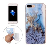 For iPhone 7 Plus Blue Marble Pattern Soft TPU Protective Case