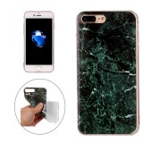 For iPhone 7 Plus Dark Green Marble Pattern Soft TPU Protective Case