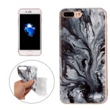 For iPhone 7 Plus Ink Marble Pattern Soft TPU Protective Case