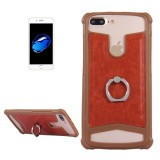 5.2-5.5 inch Universal Crazy Horse Texture PU Leather + Silicone Protective Case with Holder for Sony, Huawei, Meizu, Lenovo, ASUS, Cubot, Oneplus, Dreami, Oukitel, Xiaomi, Ulefone, Letv, DOOGEE, Umi, ZTE, Vernee, Elephone, Vkworld, THL and other Smartphones, 15.6×8.2x1cm (Brown)