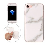 For iPhone 7 Beige Marble Pattern Soft TPU Protective Case