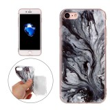 For iPhone 7 Ink Marble Pattern Soft TPU Protective Case