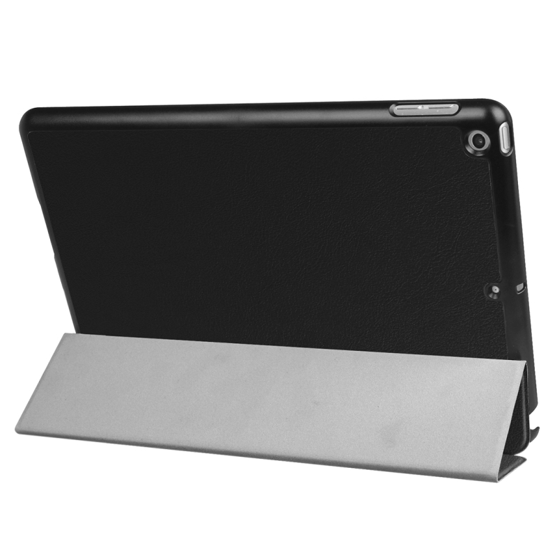 For iPad 9.7 inch 2017 Custer Texture Horizontal Flip Leather Case with Three-folding Holder (Black)