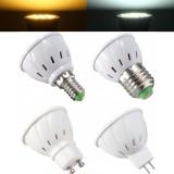 E27 E14 GU10 MR16 4W 5730 SMD 33 400LM Pure White Warm White LED Spot Light Lamp Bulb AC85-265V