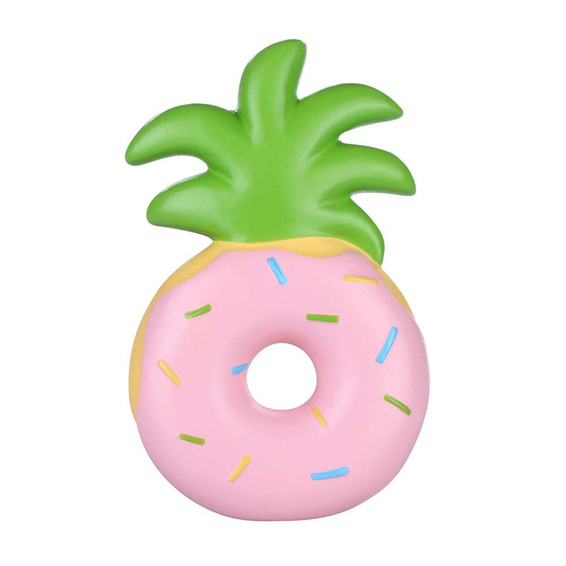 Vlampo Squishy Jumbo Pineapple Donut Slow Rising Original Packaging Fruit Collection Gift Decor ...