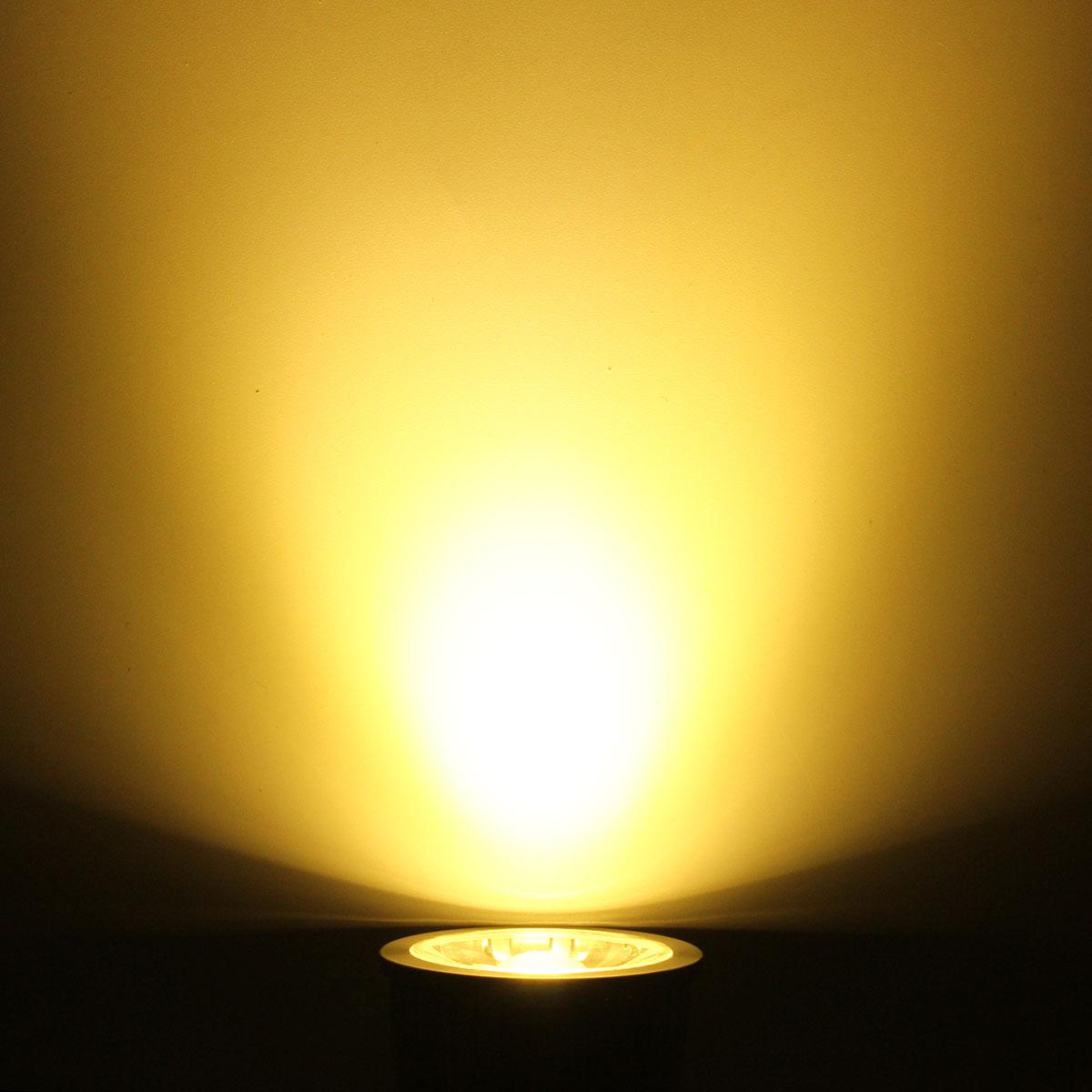 GU10 5W LED COB Black Aluminum Pure White Warm White Natural White Spot Light Bulb AC85-265V