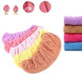 Honana BX-577 Bathroom Coral Elastic Band Quick-drying Bath Towel Hair Drying Cap Salon Spa Towel