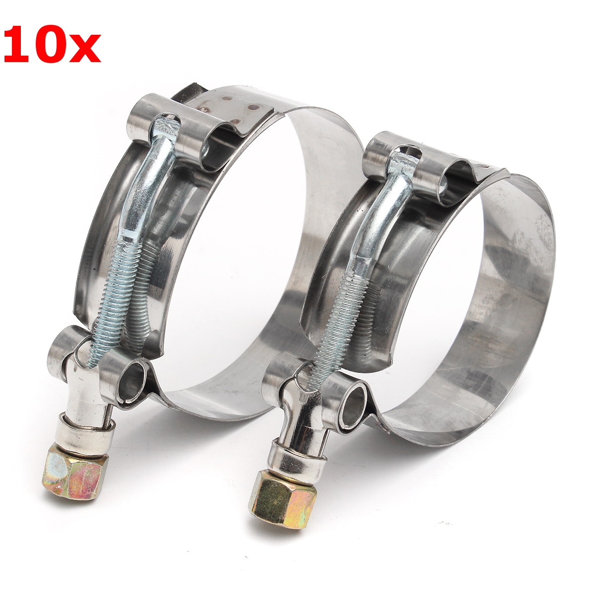 Pcs stainless steel t bolt clamps clips for silicone