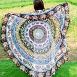 Honana WX-92 150cm Bohemian Thin Chiffon Beach Towel Mandala Round Silk Scarf Bed Sheet Tapestry Mat