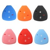 ... 3 Buttons Silicone Fob Skin Car Key Cover Jacket For Toyota Scion Tc