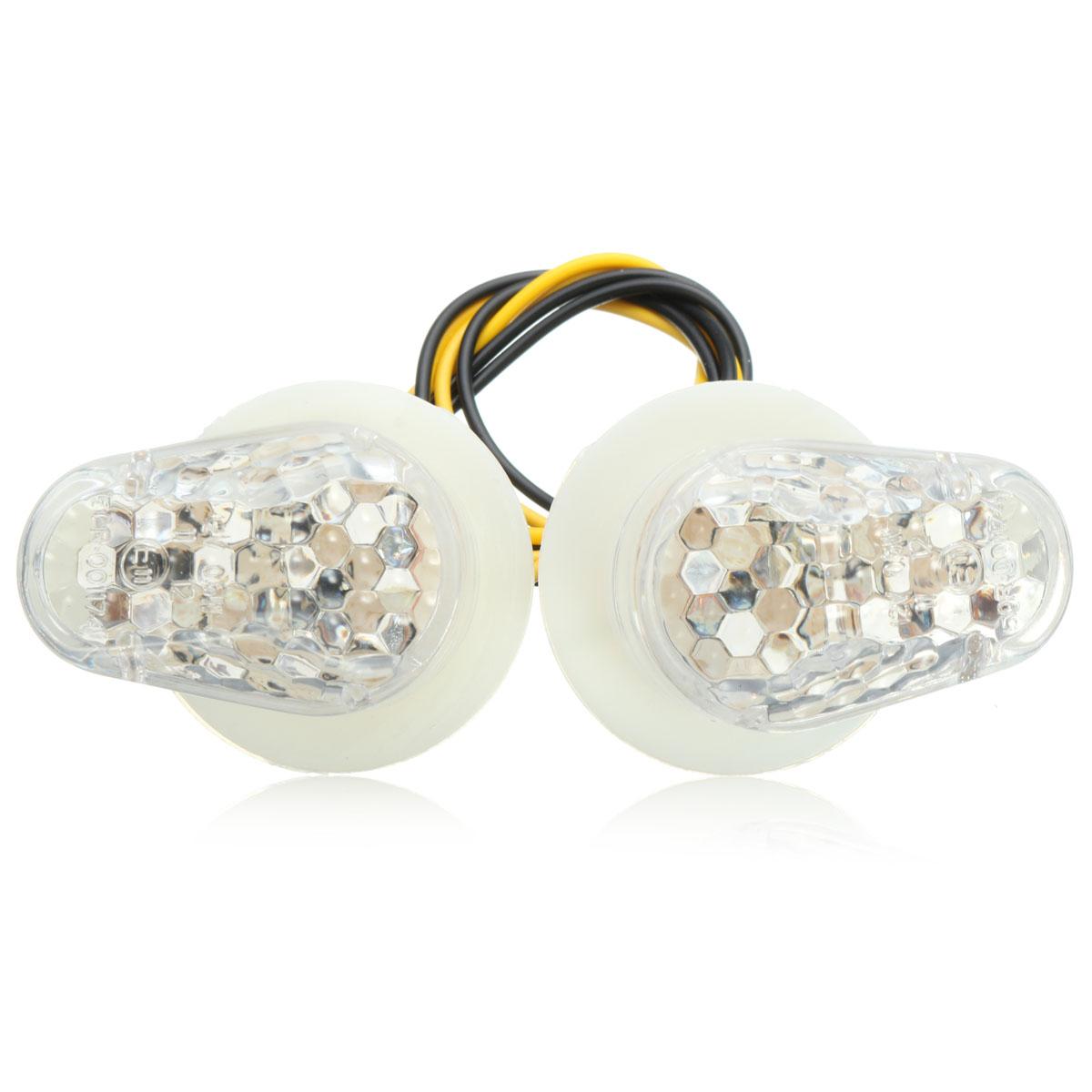 Flush Mount LED Turn Signal Light Indicator For Yamaha FZ6R FZ1 YZF R1 R6 R6S