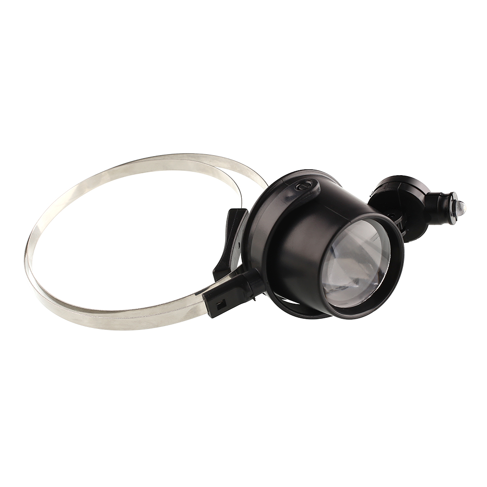 15X Head Band Eye Led Magnifier Loupe Jewelers Circuit