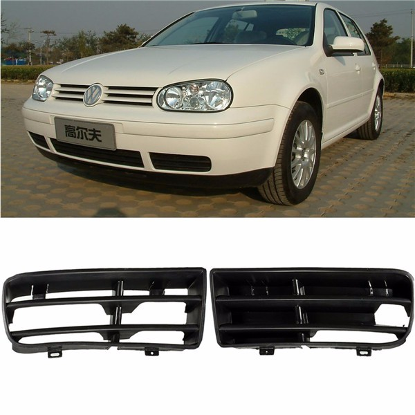 A Pair Front Bumper Lower Corner Grille Grill For VW GOLF