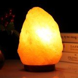 2W E12 Medium Dimmable Himalayan Salt Lamp Crystal Rock Healthy Table Desk Lamp Night Light with Wood Base & Bulb & Switch, Medium Size Weight 2-3KG, AC 110V, US Plug