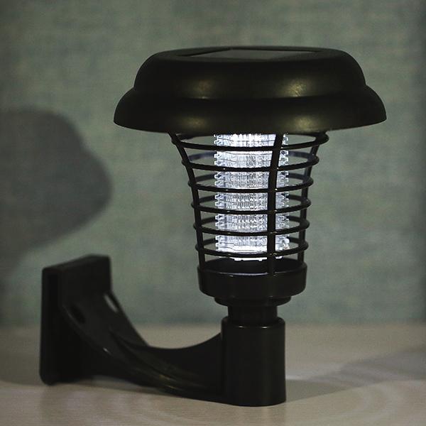 Loskii LG-GL1 UV LED Solar Powered Outdoor Mosquito Insect Pest Bug Zapper Killer Garden Light