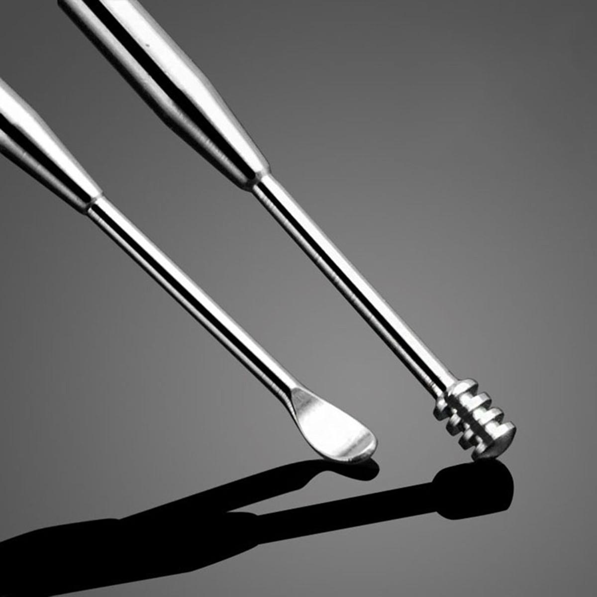 3pcs Spiral Silver Ear Wax Removal Earpick Cleaner Kit ... Ear Wax Removal Tool