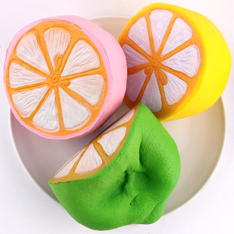 SanQi Elan Squishy Jumbo Lemon 11cm Slow Rising Original Packaging Fruit Collection Decor Gift ...