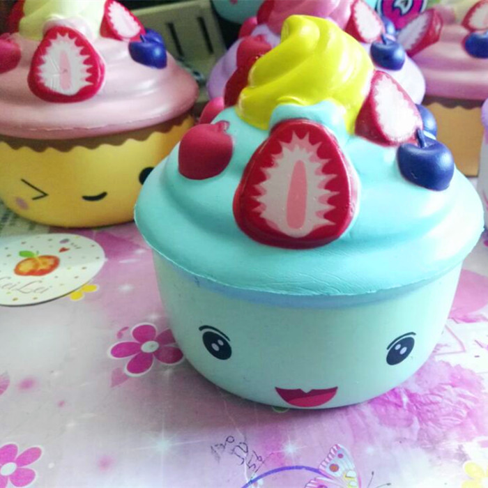 Squishy Cupcake : LeiLei Squishy Strawberry Fruit Ice Cream Cup Cupcake Slow Rising Original Packaging Collection ...