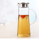 Glass Kettle Two-way Outlet Water Jug Heat Resistant Transparent Teapot Stainless Steel Strainer