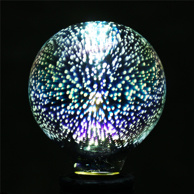 3d Fireworks E27 G80 Led Retro Edison Decorative Light