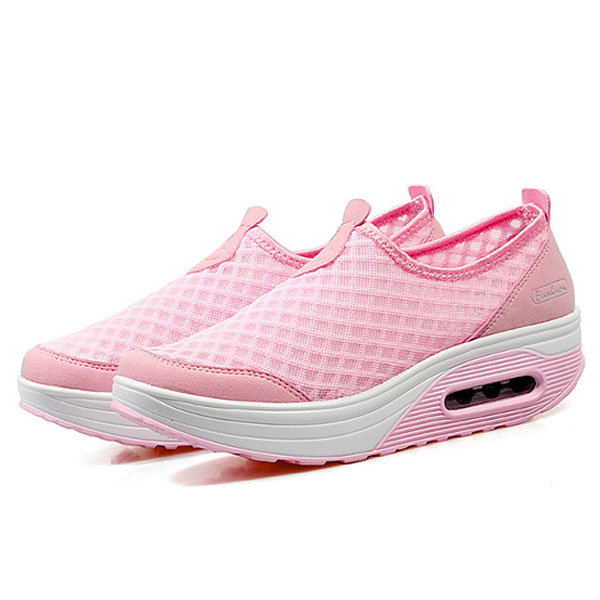 Fashion Pink Tennis Breathable Mesh Sneakers Running Shoes for Women- US Size 5