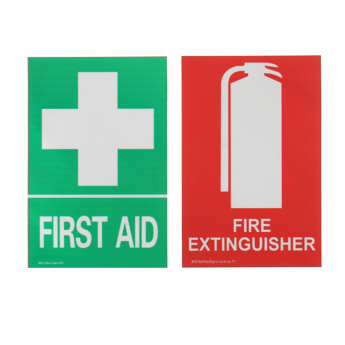 100x66mm First Aid Fire Extinguisher Pvc Sticker Sign