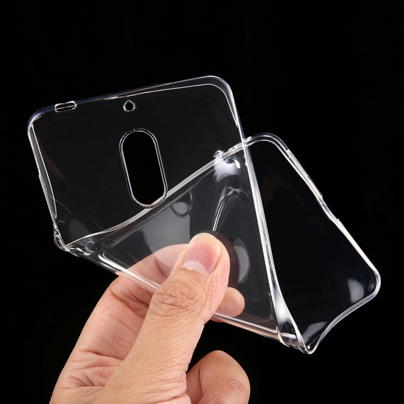 For Nokia 6 0.75mm Ultra-thin Transparent TPU Protective Case (Transparent)