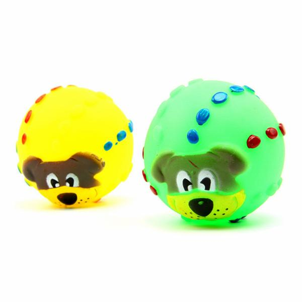 Squishy Ball Dog Toy : Pet Dog Sound Toy Squishy Rubber Squeaky Play Toy Lion Face 7 Diameter Sound Ball Alex NLD