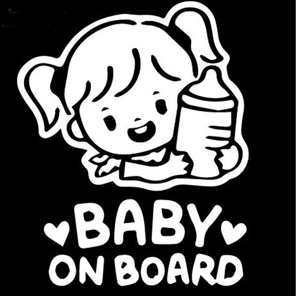 Car Sticker Baby On Board Decals Vehicle Truck Bumper Window Wall - Window decals for cars