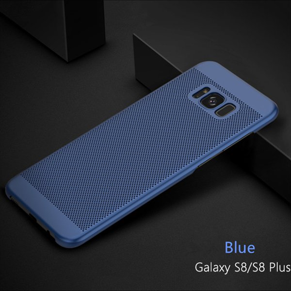 Mesh Dissipating Heat Fingerprint Resistant Hard PC Shockproof Back Case For Samsung Galaxy S8