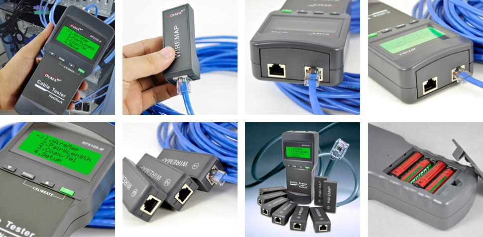 NOYAFA NF8108-M Network Cable Tester Meter Length8 remote units Cat5E/ 6E UTP STP CAT5 RJ45