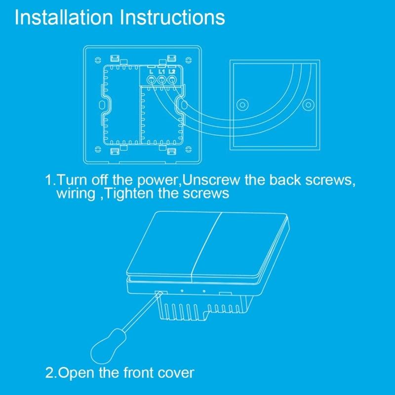 Xiaomi Aqara Smart Light Control Double Key Paste Wall style ...