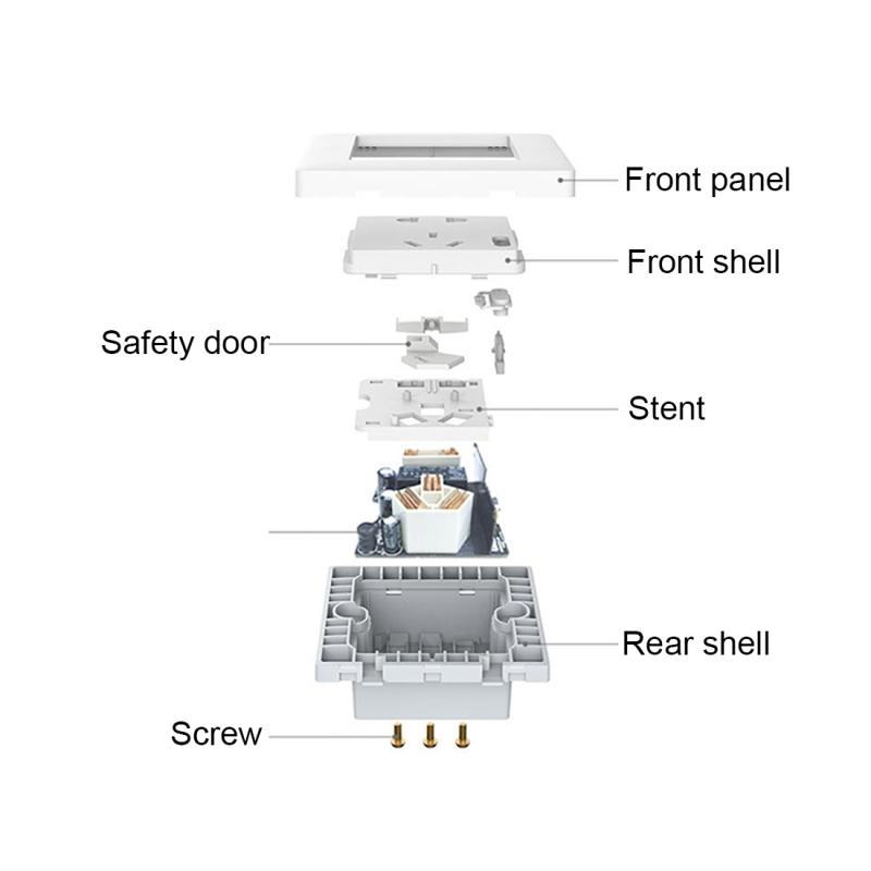 Xiaomi Smart Home Aqara Smart Light Control Wall Socket (ZigBee Version)  Plug, Work with Xiaomi Multifunctional Gateway (CA1001) Mihome APP Control