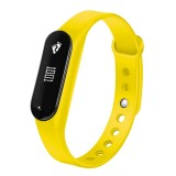 CHIGU C6 0.69 inch OLED Display Bluetooth Smart Bracelet, Support Heart Rate Monitor / Pedometer / Calls Remind / Sleep Monitor / Sedentary Reminder / Alarm / Anti-lost, Compatible with Android and iOS Phones (Yellow)