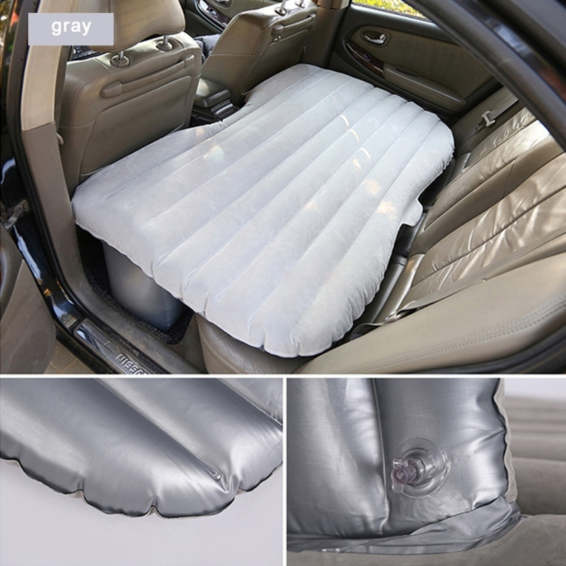 Car Travel Inflatable Mattress Air Bed Camping Universal SUV Back Seat Couch (Light Grey)