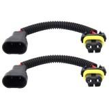2 PCS 9005/9006 Car HID Xenon Headlight Male to Female Conversion Cable