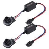 2 PCS 3157 Car Auto LED Headlight Canbus Warning Error-free Decoder Adapter
