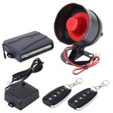Car Safty Warning Alarm System with Two Remote Controls, DC 12V
