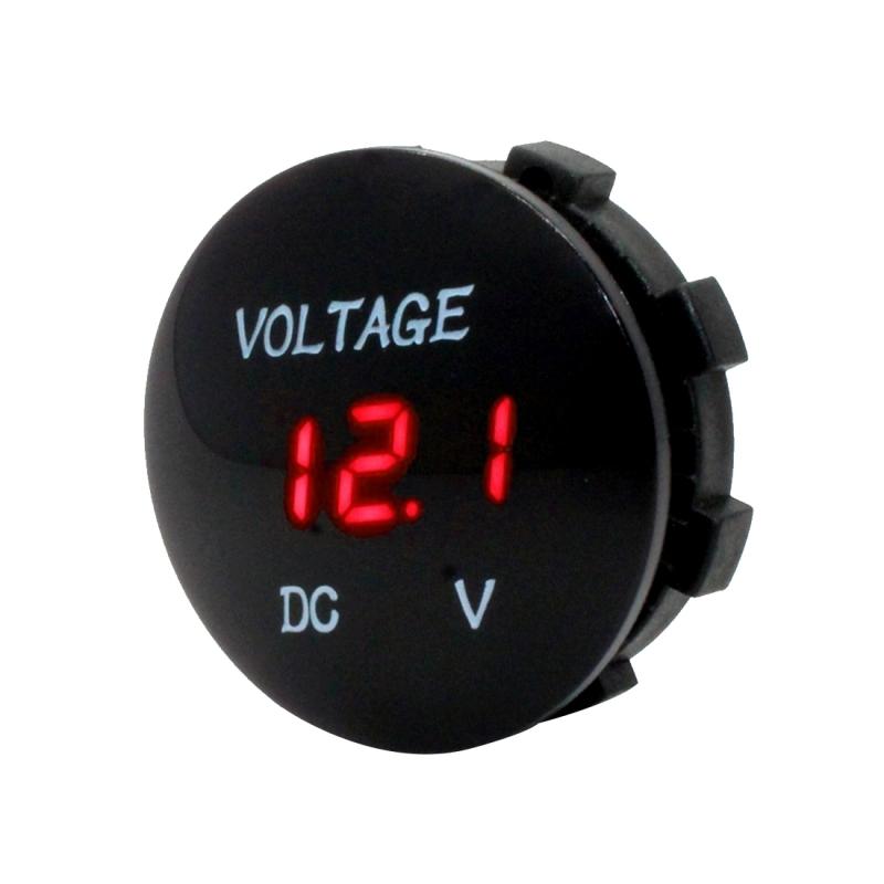 Universal LED Digital Voltmeter Voltage Motorcycle Gauge Waterproof 12V