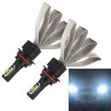 2 PCS S7 9007 40W 3200 LM 6000K IP68 Car Headlight with 2 COB Lamps and Heat Dissipation Cable, DC 9-30V (White Light)