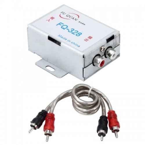 FQ-328 3.5mm Car RCA Amplifier Audio Noise Filter